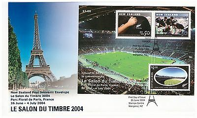 New Zealand 2004 Salon Du Timbre Int Stamp Exhibition Minisheet First Day Cover