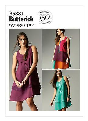 Butterick Easy SEWING PATTERN B5881 Misses Dress 8-16 Or 16-24
