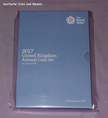 2017 ROYAL MINT UK BRILLIANT UNCIRCULATED SET COINS - 13 Coins - MINT SEALED