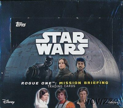 2016 Topps Star Wars Rogue One Mission Briefing MASSIVE 24 Pack Retail Box !