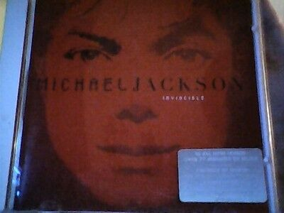 MICHAEL JACKSON  INVINCIBLE limited edition red   cover   WITH STICKER