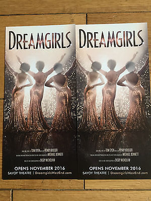 Dreamgirls West End Theatre Promo Musical Flyer X 3-Amber Riley-Glee