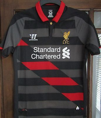 Warrior Liverpool Fc 3rd Shirt 2014-15 season size on tag uk XL Boys approx 36 ""