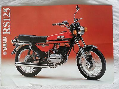 Yamaha Rs125 Sales Leaflet/brochure