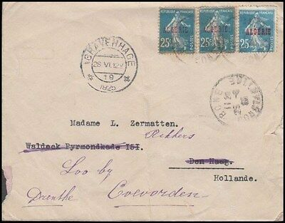 Algeria 1925 Cover To Holland (Id:525/d43985)