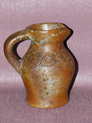 Pichet Gres Signe French Pottery Art Populaire