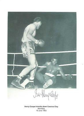 Henry COOPER (1934-2011) signed 1963 Clay / Muhammad Ali 8x12 Photo AFTAL PROOF