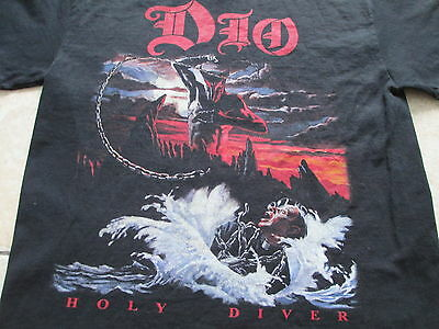 Dio Holy Diver Black Red White T Shirt Size S Small M Medium