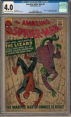 Amazing Spider-Man #6 CGC 4.0 (C-OW) Origin & 1st appearance of the Lizard