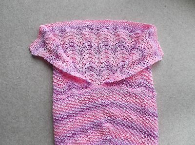 Mermaid Tail Blanket:-Hand Knitted :-Suit 3-6 Year Old.