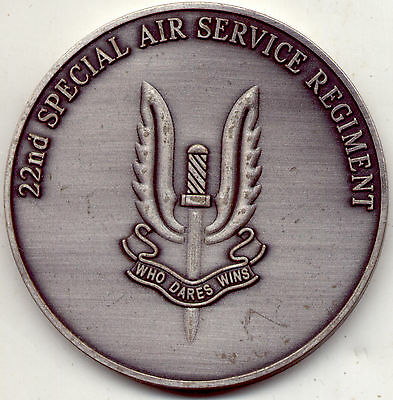British Special Air Service CHALLENGE COIN 100% GENUINE 22SAS S.A.S. United King