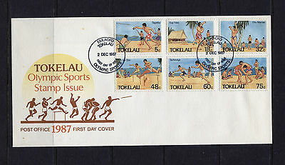 Tokelau 1987 Olympic Sports FDC, SG148-153