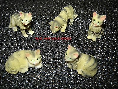 Dolls House Tabby Cat Resin Pet Miniature 12Th Scale Accessories