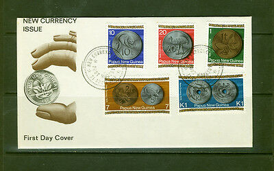 Papua New Guinea 1975 New Coinage FDC, SG281-285