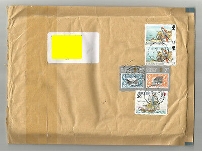 Falkland Islands St Helena Jersey unusual cover to/from UK