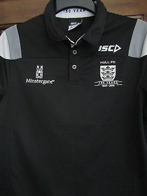 """ISC Hull Fc polo casual 2015 .150 years, shirt size on tag size medium app 40"""""""