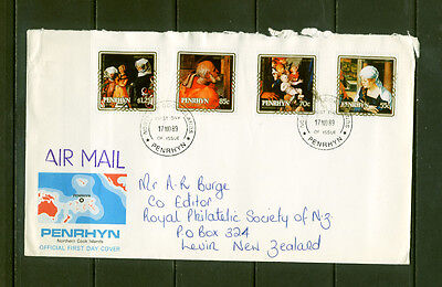 Penrhyn Cook Islands 1989 Christmas FDC