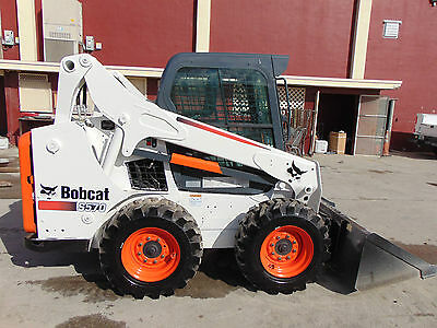 """2013 Bobcat S-570 Turbo """"super Climate Cab""""  A/c - Heat - Only 591 Hours"""