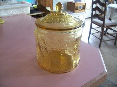 Patrician Spoke amber covered cookie jar