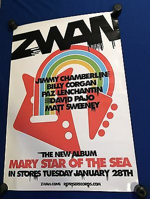 vintage 2002 Zwan Mary Star of Sea LP PROMO POSTER 26x38in Smashing Pumpkins