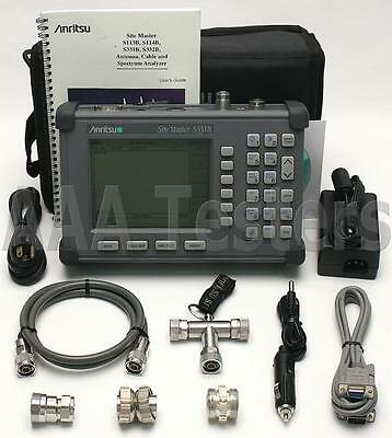Anritsu Site Master S331B Cable & Antenna Analyzer w Option 5 Power Monitor S331