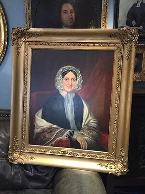 Antique 19th Century Oil Portrait Painting Of Harriet Grove Percy Bysshe Shelley