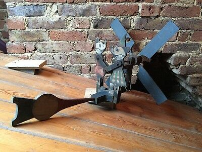 Antique Vintage Mickey & Minnie Mouse Whirligig Weathervane Folk Art