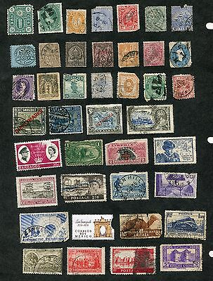 Stamp Lot Of Worldwide Faulty Items, With Better (2 Scans)