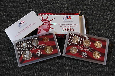 2006 United States Mint Silver 10 piece Proof Set with COA and Box