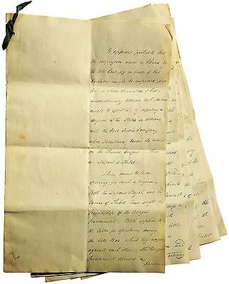 1797 Manuscript - CHINA TRADE STRATEGY - PEKING - Little Known Mission to Nepal