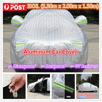 3XXL Premium Double thick waterproof car cover rain resistant UV dust protection