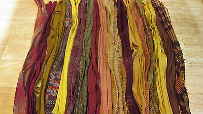 PEAK  FOLIAGE  125 Hand and Mill Dyed  #8  Primitive Rug Hooking Wool Strips