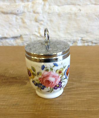 Large 1960's Royal Worcester Egg Coddler - Rose  Pattern