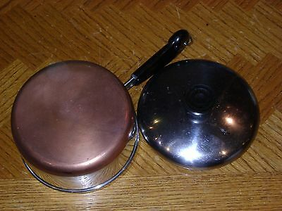 1 ½ Qt Copper Clad REVERE WARE Sauce Pan Pot with Lid Made in Clinton, IL USA