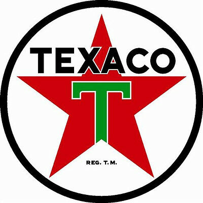"Texaco Star Gas Gasoline Oil Vintage Style Metal Large 25.5"" Steel Sign Garage"