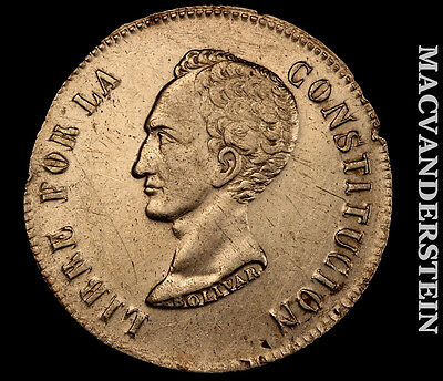 1849 8-Soles Bolivia- Extra Fine+/almost Uncirculated !! #h2767