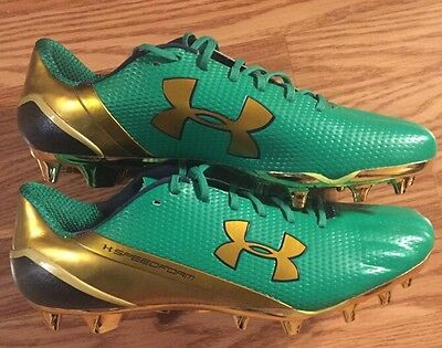 Notre Dame Football 2015 Shamrock Series Boston Team Issued Cleats Low Size 13