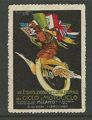 Italy 1926 Bicycle/Motorcyle Expo Poster Label