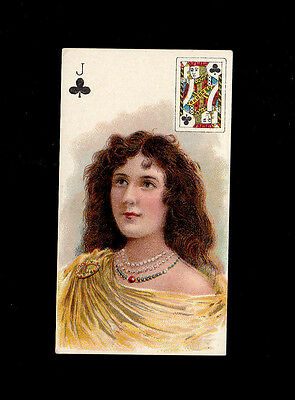 "A.t.c. 1900 Scarce ( Beauties ) Type Card """" Jack Clubs -- Beauties P/c Inset """""