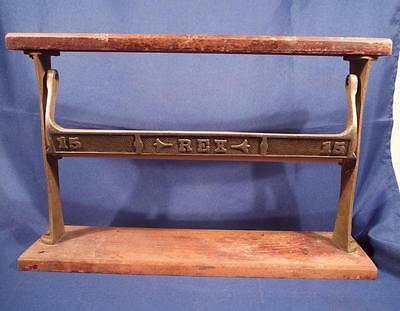 Antique Ornate REX 15 Country Store Paper Cutter Holder Nickel Plated