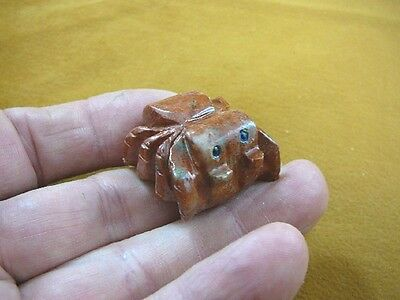 (Y-SPI-15) little red gray TARANTULA spider gem stone carving SOAPSTONE spiders