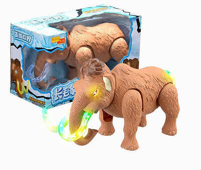Walking Dinosaur Toy Figure with Lights&Sounds Movement Mammoth 26*11.2*15cm