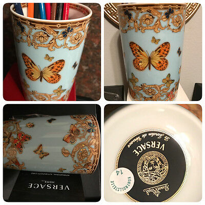VERSACE BUTTERFLY CUP VASE ROSENTHAL LIMITED NEW only 1 LEFT SALE