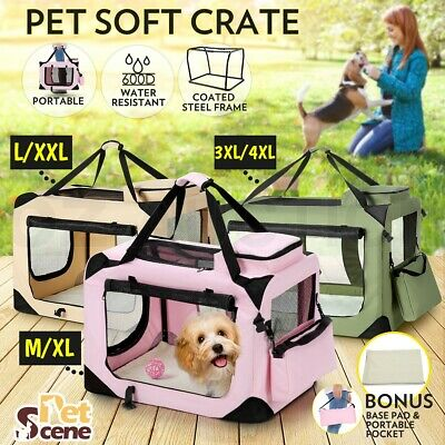 Foldable Pet Carrier Soft Crate Cage Dog Cat Travel Bag Kennel Portable