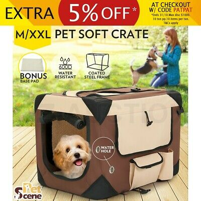M/XXL Portable Pet Carrier Soft Crate Cage Dog Cat Travel Bag Kennel Foldable