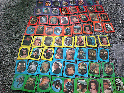 VINTAGE FULL SET OF STAR WARS ROTJ 1983 TOPPS TRADING CARDS STICKERS 2 sets