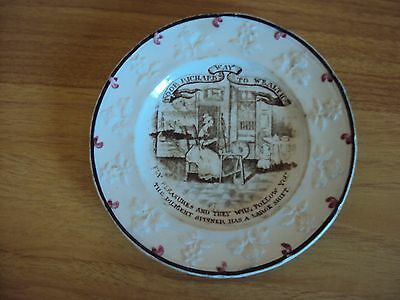 Early Victorian  Childrens/Nursery Plate with Embossed Floral Border