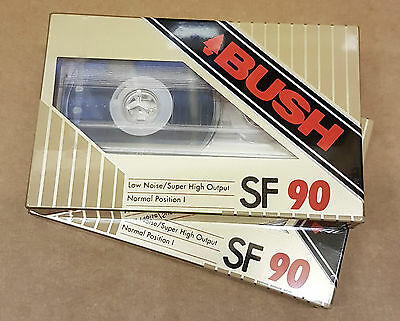 (pa2) Set of Two Bush SF90 Blank Cassette Tapes - New and Sealed