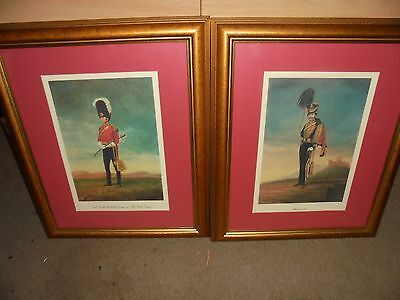 Gorgeous pair of Military prints, The Scots Greys, Ussars 1835 , large pictures