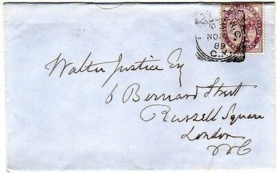 1889 GB cover with London WC / CX squared circle LB/042